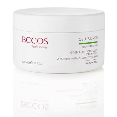 Cell & Dren Crème Drainante Anti-cellulite Professionnelle 450 Ml
